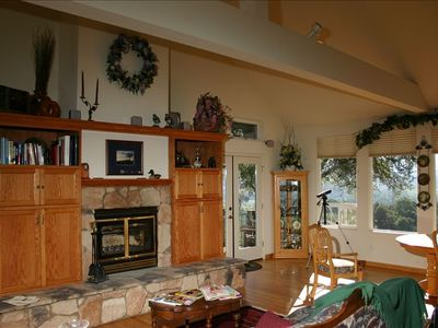 Enjoy the Living Space - The Wood Burning Fireplace and Views From the Home