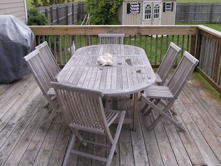 Cape Charles house photo - Teak Deck Chairs and Table