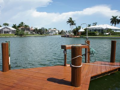 The dock is the best place to fish from or to lookout for dolphins!