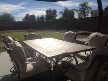 San Tan Valley house rental - Comfortable outdoor dining with over sized umbrella