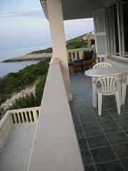 view of the 2 terraces up level and lower level - Korcula apartment vacation rental photo