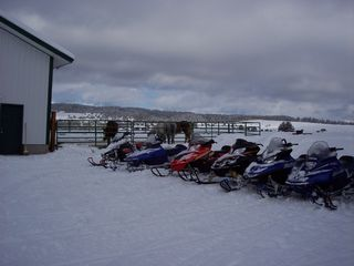 Island Park cabin photo - Great winter fun