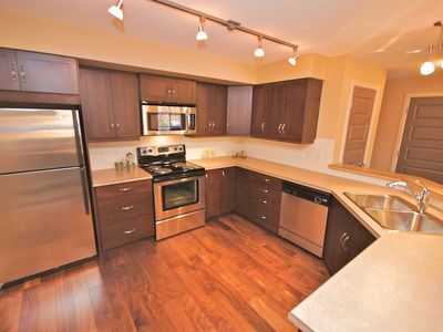 Great kitchen with all stainless steel appliances