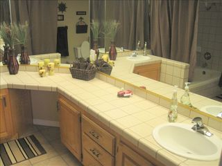 St. George condo photo - Large Master Bathroom with His and Her sinks