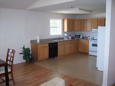Spacious, open kitchen.  All conveniences of home.