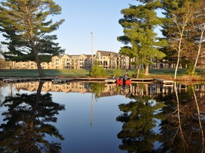 View of the resort from the lake.