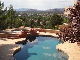 Sedona house photo - Private pool & jetted spa with views and privacy