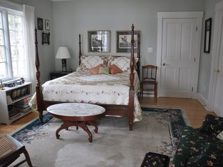 Freeport house photo - First floor queen bedroom with adjoining full bathroom