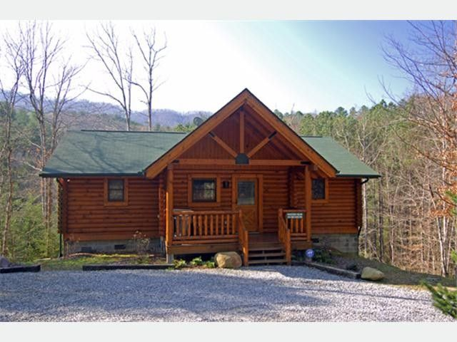 Dancing bear 2 bedroom cabin homeaway pigeon forge Log cabin 2 bedroom