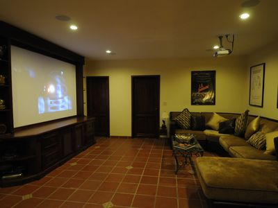 "PROJECTION ROOM WITH 130"" SCREEN"