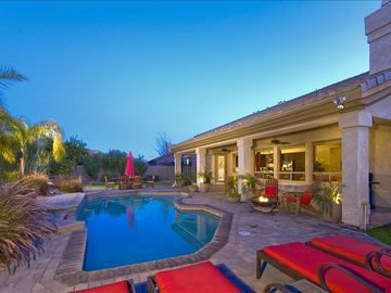 Kierland Scottsdale house rental - Relax in a chaise lounge and soak up the sun by the sparkling pool