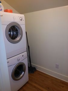 Austin apartment rental - Washer & dryer located inside the loft in a utility closet.