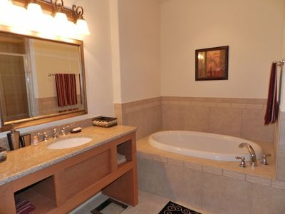Davenport townhome rental - Main Room #1 Bathroom. With Jacuzzi and Shower.