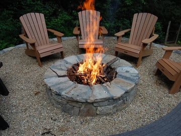 Fire Pit grate makes building a great fire a snap