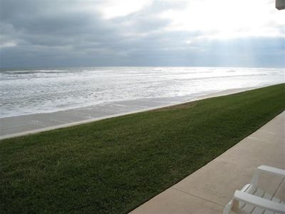 The direct ocean-front view from the ground floor patio