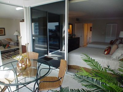 Enclosed Lanai showing bedroom and living room
