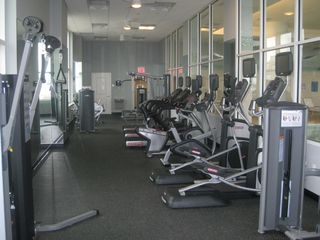 Gateway Grand Ocean City condo photo - Fitness center overlooking ocean and indoor pool.