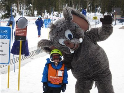 Mason & Wooley at ski school