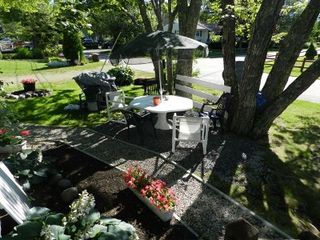 Moody Beach house photo - Front yard patio-sitting area. (Beach is across the street, which is Ocean Ave)