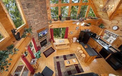 View from the loft. Don't miss out this beautiful cabin.