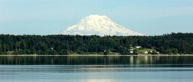 Mt Rainier from the beach