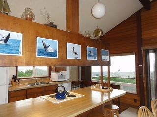 Waldport house photo - Looking into kitchen area with great views of the ocean