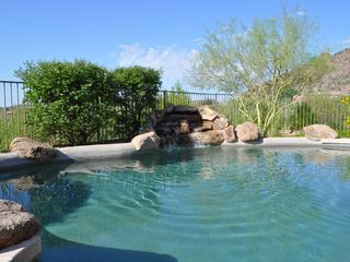 Scottsdale Troon house photo - View looking southwest of the pool and waterfall - perfect!