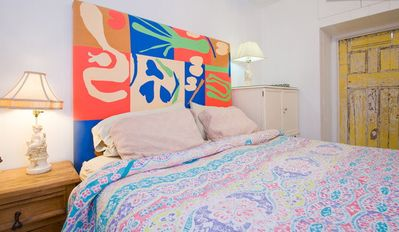 Venice Beach house rental - KIng Size Organic Bed in the Caribbean Room