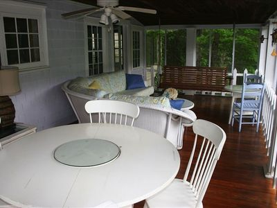 another view of the screened porch
