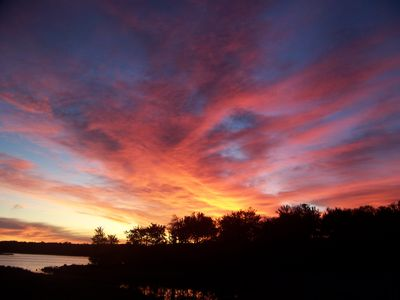 Tobyhanna house rental - Sunrise from Deck