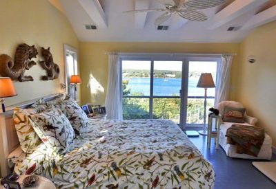 Master Queen Suite #1 Has Vaulted Ceiling, Water Views. Second Floor