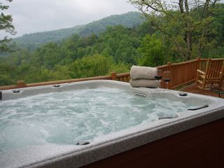 Lake Nantahala lodge photo - View of Lake from Hot Tub