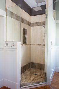 Enjoy the large master bathroom shower with it's rain shower!