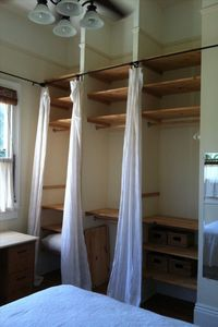 Custom closets in both bedrooms