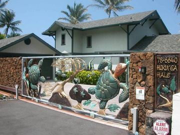 Kailua Kona house rental - Famous Turtle gate..truly a work of art to last forever!