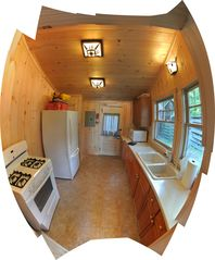 Sebago Lake Basin cabin photo - May 29 2012 UPDATED Renovated Kitchen with new appliances, tiles, lights etc