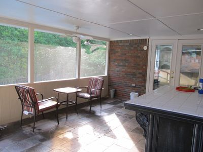 The back porch off of the sunroom
