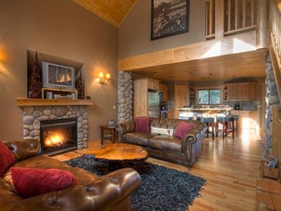 Great Room with the warmth of a gas fireplace