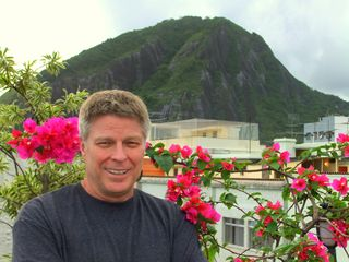 Copacabana apartment photo - David Parker, owner and your host in Rio, view from the garden terrace
