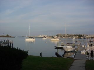 Oak Bluffs house photo - Late afternoon view of dock and across harbor