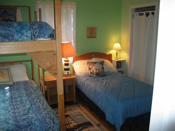 3rd bedroom with twin and bunks.