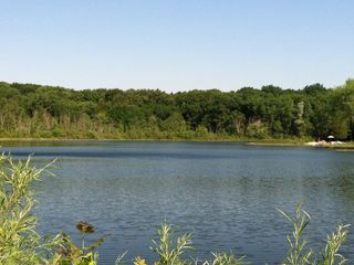 This lake is surrounded by state land and makes a peaceful getaway with privacy.