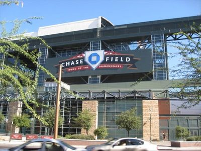 One of four major sports facilities, Chase field home of the Diamond Backs