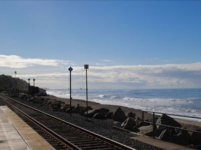 Take the train from North Beach Station to LA, Disneyland, SJC, or San Diego.