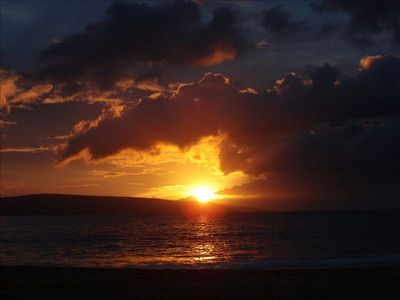 Sunset from Big Beach at Makena - Kaho'olawe in background