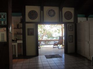 Culebra cottage photo - View from foyer to outside balcony / deck