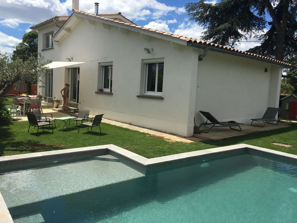 House With Pool Near Beach And Montpellier Vrbo