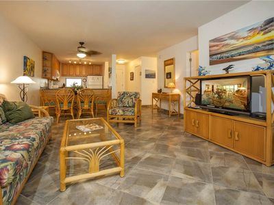 Overlook Lush Tropical foliage at this conveniently located South Kihei Condo - AB204