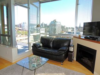 Victoria condo photo - Living area with view of the City.