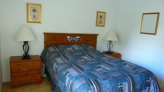 Glenbrook Resort villa photo - Downstairs queen bedroom with bathroom just outside